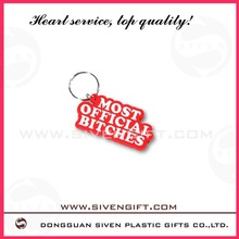 2012 hot sell Eco-friendly lovely cartoon girls 3D soft pvc keychain for promotion use
