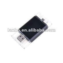 Sutiable Portable Black 16GB 16G USB2.0/Micro USB Flash Memory Drive Disk