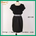 2012 Ladies black chiffon korea