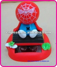 Spider Man Auto Car Solar Dashboard Swing Doll Decor FF-No009-6