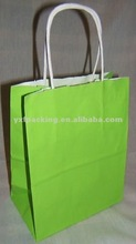 NEON BRIGHT GREEN PAPER GIFT SHOPPING JEWELRY BAGS