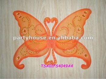 2012 Popular Orange Plastic Fairy Wings