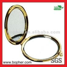 custom high quality antique brass compact mirror