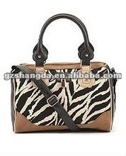 2012 New arravial zebra handbags , hobo handbags for young girls