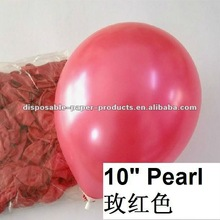 "Wholesale Pearl Plain Latex Balloons, 10"" inch Pastel Pearl 10inch Latex Balloons hot Pink --14 color Wedding Party Decor Favor"
