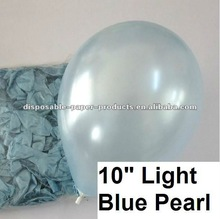 "Wholesale Pearl Plain Solid Latex Balloons, Balloons Latex 10"" Pearl Baby Blue--14 color Wedding Party Decor Favor"