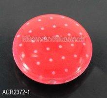 20mm flat round acrylic dot beads