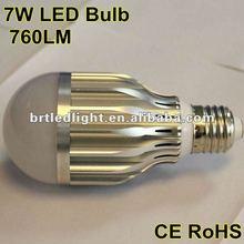 2012 Hot sale High lumen 7W aluminum LED Bulb E27
