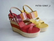 fashion sandal wedges 2012 spring/summer wedge sandals