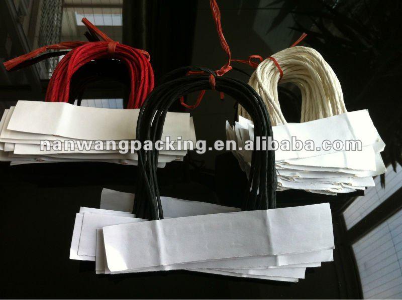 Torcida papel alças para sacos de papel
