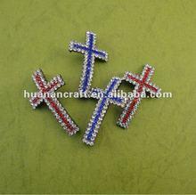Blue Diamond cross pendant ,good sale nice pendant for bracelet