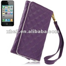 Leather Case /Carry Bag for iPhone 4 & 4S / 3GS / Samsung 5838 / 5660 , Size: 13 x 8 x 2cm (Purple)