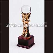 Unique Flower Bar Gold Resin Trophy