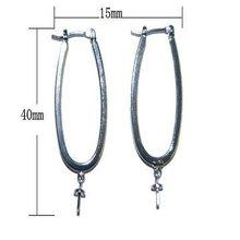 25*40mm Fashional 925 sterling silver earring hook