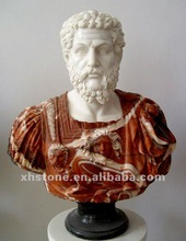 marble carved male bust statue