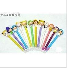 Novel twelve constellation design ball pen colorful