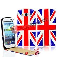 National United Kingdom Flag Leather Flip Case for Samsung Galaxy S3