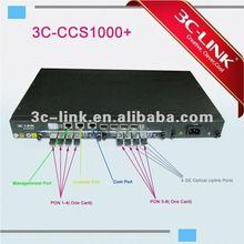 GEPON OLT with SNMP management ,FTTH/FTTX EPON/GEPON OLT solution-3C-CCS1000+