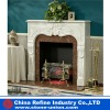 Marble hand carving gas fireplace