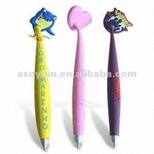 cute desifned 3D pvc pen on magnet