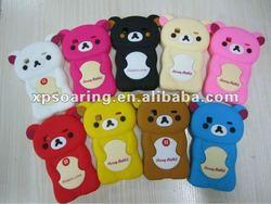 3D bear silicon case back cover for Samsung S5660 Galaxy Gio