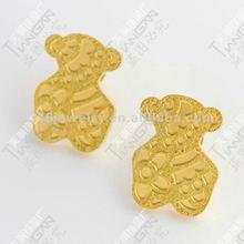 2012 new hotsale fashion 316L stainless steel bear earring stud TG0837