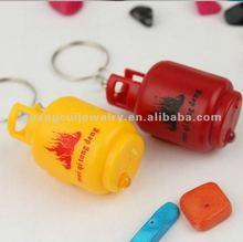 fashion cute plastic gas tank keychain led