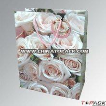 Beauty Flower Paper Shopping Bag