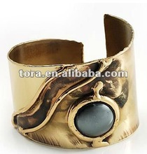 Fashion Chic Ethnic Hematite Cuff Bracelet 2012 fashion bracelet