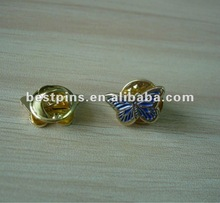gold and blue color 3d little pin badge little butterfly design