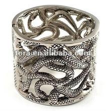 Fashion Curling Snakes Chunky Mesh Bangle (Burn Silver Tone) snake bracelet 2012 fashion bracelet