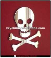 Halloween Pirate Skull & Crossbones Mirror stickers
