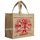 2012 high quality bamboo handle jute bag