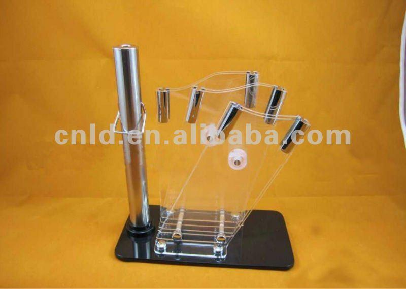 Kitchen Knife Rack Knife Holder Block with Sharpening Steel