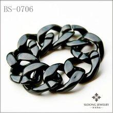Fashion Large Black Chain Bracelet