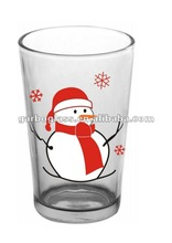 snowman glass cup,popular christmas gifts in 2012