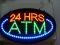 de alta calidad de china led atm 24 horas signos
