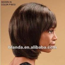 wholesale short style mixed color 1B/33 virgin brazilian human hair full lace wigs for black women