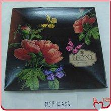 DJP12356 Square Flower decorative plastic plate