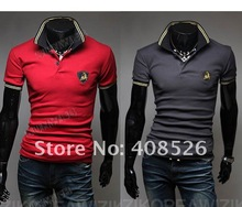 2012 new summer Hot selling Wholesale cotton short sleeve collar polo Men's T-Shirt