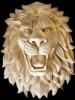 Natural stone lion head sculpture for sale