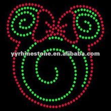 Christmas Mouse - Christmas Swirl - Rhinestone Transfer