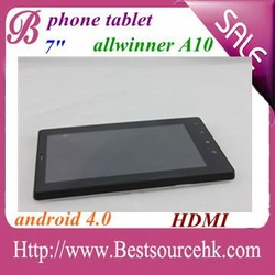 allwinner A10 3g gsm WCDMA sim slot tablet pc with CE