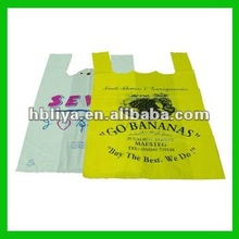 2012 High quality HDPE T-shirt plastic bags on sale
