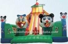 inflatable slide ,fun city playground slide dry slide