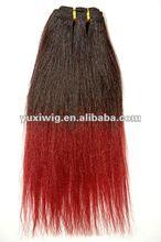 fashion good qualtiy yaki two tone human hair weaving