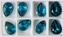 4320 Fancy Pear blue zircon 20x30mm