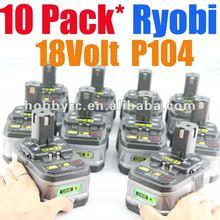 packs Ryobi 18V Battery P104 Lithium Li-Ion TOOL batteries One+ plus 2.4Ah