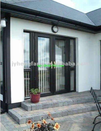 Exterior de aluminio/de pvc con doble puerta principal con diseño de