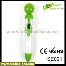 Hottest portable electronic smile face reading pen for learning language reading pen and talking pen with CE,ROHS,OEM services